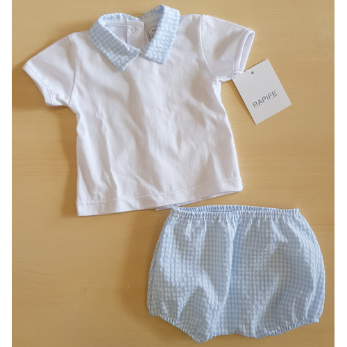 Polo M/M in cotone + Short in Vichy