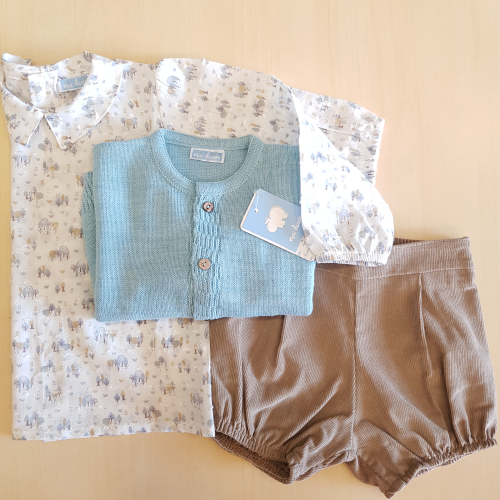 Giacca + Camicia in Plumetis + Short